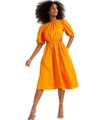 inc puff-sleeve cutout dress, created for macy's