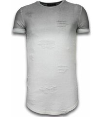 t-shirt korte mouw justing flare effect long fi dual ed