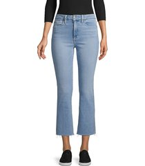 joe's jeans women's hi honey crop bootcut jeans - chloe - size 25 (2)