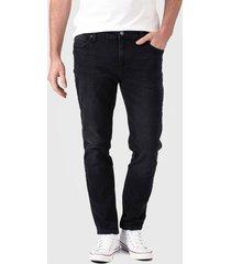 jeans lee luke negro - calce ajustado