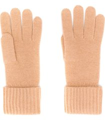 n.peal ribbed knit gloves - neutrals