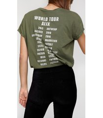 alix the label 205892712 ladies knitted on tour t-shirt.