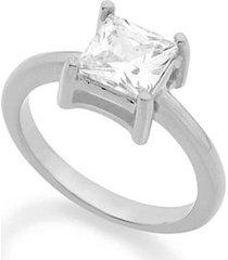 anel solitário rommanel aro liso composto por zircônia feminino