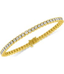 diamond illusion tennis bracelet (1/2 ct. t.w.) in sterling silver (also available in yellow or rose gold over silver)