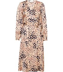 amur wrap dress jurk knielengte bruin second female