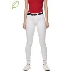 jeans only royal hw blanco - calce ajustado