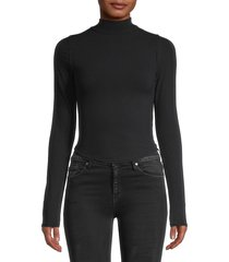 free people women's mockneck self-tie top - black - size l