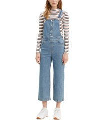 levi's cropped wide-leg overalls