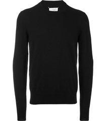 maison margiela elbow patch sweater - black