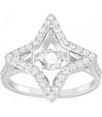 anillo sparkling dance star, blanco, baño de rodio