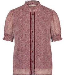 blouse met print ramona  rood