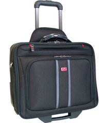 mancini biztech collection wheeled laptop/ tablet slim briefcase