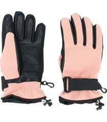 moncler grenoble logo patch touch strap gloves - black