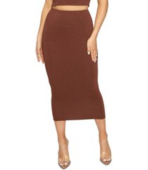 naked wardrobe the nw bae-sic midi skirt