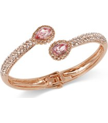 charter club crystal & colored stone bypass bangle bracelet, created for macy's