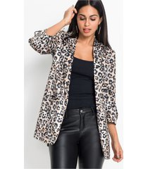 blazer met animalprint