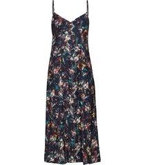 2nd paula printed jurk knielengte blauw 2ndday