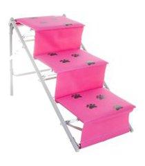 escada para cães e gatos tubline one rosa