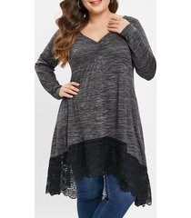 plus size heather longline t-shirt