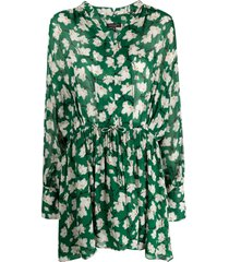 rag & bone carly floral-print dress - green