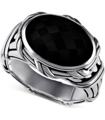 peter thomas roth onyx statement ring (5-1/5 ct. t.w.) in sterling silver