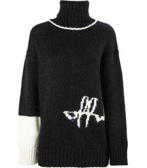 off-white black alpaca sweater