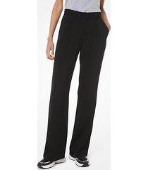 mk pantalone in jacquard con logo - nero (nero) - michael kors