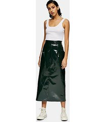 *forest green vinyl leather skirt by topshop boutique - forest