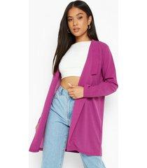 petite long line blazer, electric purple