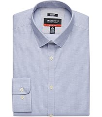 awearness kenneth cole awear-tech navy check slim fit dress shirt