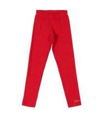 calça legging em cotton quimby vermelho