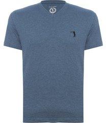 camiseta aleatory gola v básica masculina