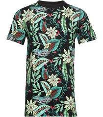 crewneck tee with seasonal all-over print t-shirts short-sleeved multi/mönstrad scotch & soda