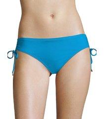 calvin klein women's drawstring hipster bikini bottom - mediterranean - size s