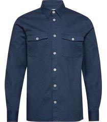 vermont overhemd casual blauw minimum