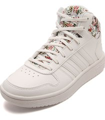 tenis lifestyle blanco-multicolor adidas performance hoops 2.0 mid