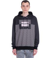 balmain sweatshirt in black polyester