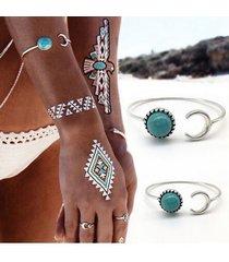 braccialetto d'epoca braccialetto d'imitazione turchese regolabile bracciale gioielli etnici per le donne