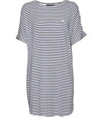 softness stripe big shirt dresses t-shirt dresses multi/mönstrad missya