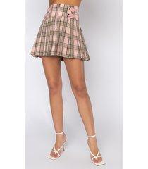 akira prime plaid mini skirt