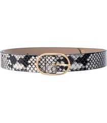 b-low the belt emmie mini python print belt - black