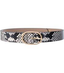 b-low the belt emmie mini python print belt - black