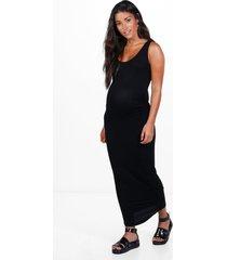 basic midaxi zwangerschapsjurk, zwart