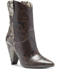 i.n.c. women's bevie booties, created for macy's women's shoes