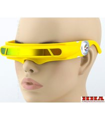 yellow mirrored lens futuristic cosplay x-men cyclops costume visor sun glasses