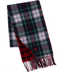 polo ralph lauren men's reversible scottish tartan scarf