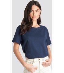 na-kd basic basic oversize t-shirt - navy