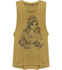 disney juniors' princesses belle flower festival muscle tank top