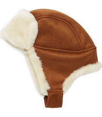 faux shearling aviator hat