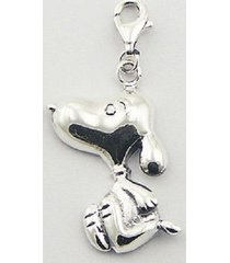 silver charm 925 sterling snoopy dog charm with lobster clasp size 33mm height